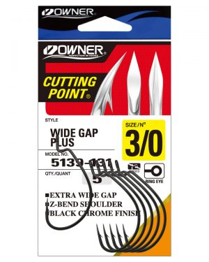 B-93 Wide Gap Worm Hooks Pack
